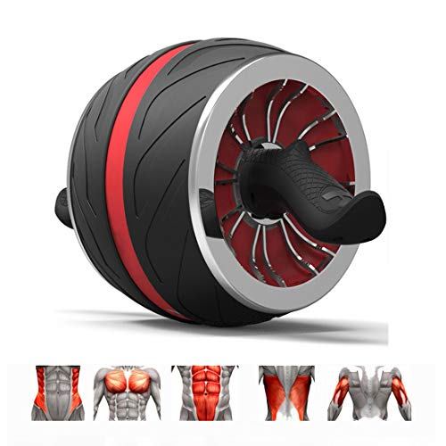 GIYL Ab Wheel Roller Roller Workout-Maschine Ab Big Wheel Roller Bauch-Übung perfekte Fitness für Core-Workouts,Rot