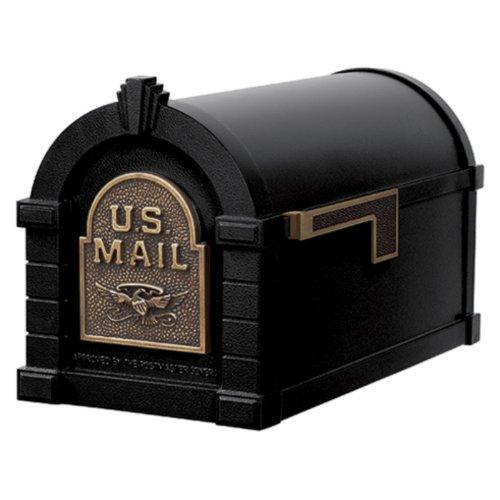 Gaines KS-21A - Eagle Keystone Series Mailboxes - Black/Antique Bronze