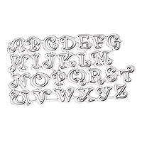 kowaku 26アルファベットメタルカッティングダイダイカットエンボスステンシルに私スクラップブックデコレーション