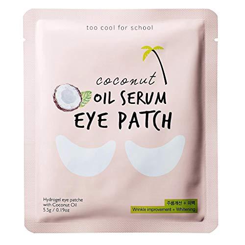 Too Cool For School - Coconut Oil Serum Eye Patch, Parches Coreanos Hidratantes Para Contorno De Ojos, 5 pares