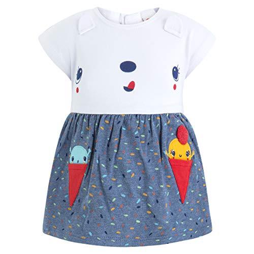 Tuc Tuc Vestido Punto S/M NIÑA Cute Ice Vestido, Bebé-Niñas, Azul (Azul 16), 74 (Tamaño del Fabricante:9M)