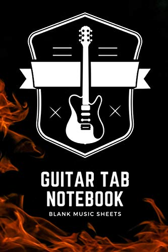 Guitar Tab Notebook: Blank Guitar Tablature Book - Journal for Guitar Music - 120 Pages (6x9 size)