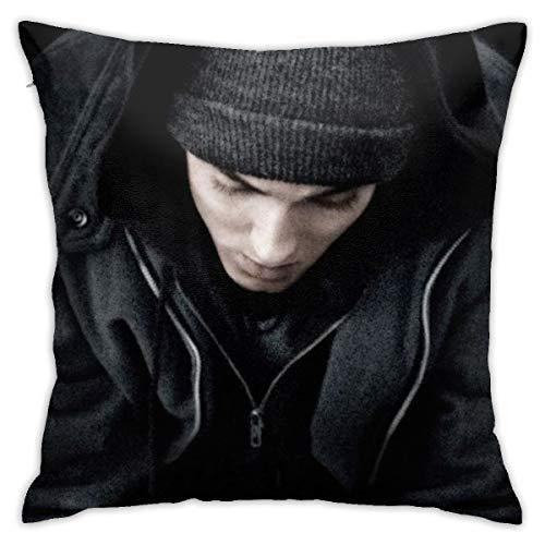 Shadidi Eminem Fundas de almohada de algodón y poliéster, fundas de almohada para sofá, decoración del hogar, 45 x 45 cm, almohada de 18 x 18 pulgadas, poliéster, Eminem 6, talla única