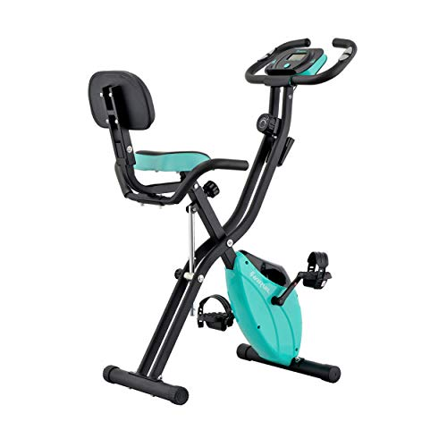 Harvil Foldable Magnetic Exercise Bike with 10-Level...