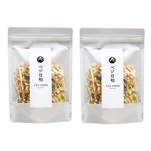 乾燥野菜 ベジ日和 100g (50g×2パック) 国産(九州産)きゃべつ、にんじん、玉ねぎ、ほうれん草、えのき入 保存食