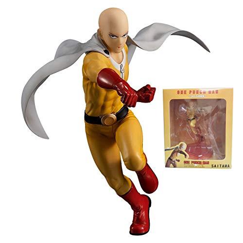 Toys One-Punch Man, Figura de Anime Toy Saitama Anime Hero Disfraz Figuras Anime Action Man Figuras, Estatuas de Pvc Adornos de Decoracin Juguete Coleccionable Regalos de Cumpleaos 7 Pulgadas