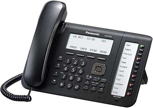 Panasonic KX-NT556X-B Terminal con conexión por Cable LCD Negro - Teléfono IP (Negro, Terminal con conexión por Cable, LCD, 267 mm, 170 mm, 180 mm)