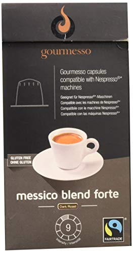 Gourmesso Messico Blend Forte - 10 Nespresso kompatible Kaffeekapseln - Fairtrade