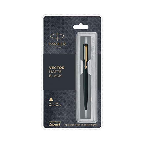 Parker Vector Ball Pen, Matte Black