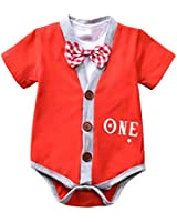 Newborn Baby Boys Onesie Clothes Gentleman Suits Infant Romper Outfits Set