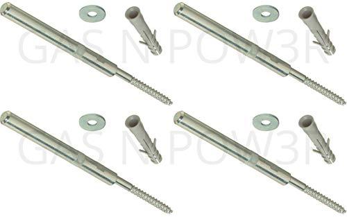 Gas N Pow3r Regalträger, verdeckt, 120 mm, schwebend, versteckt, für Mauerwerk, robust, 4 Stück