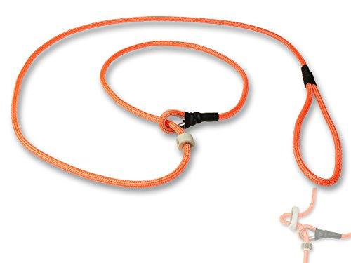 Mystique® Field trial Moxonleine Retrieverleine 6mm 130cm mit Zugbegrenzung neon orange