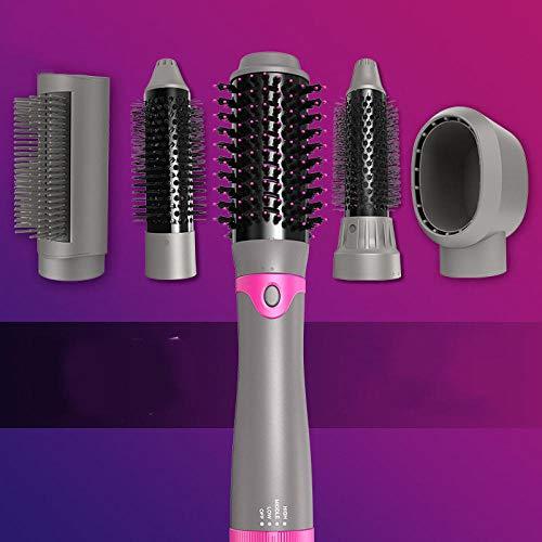 Secador de pelo, cepillo de aire caliente para el peinado del cabello, multifuncional 5-en-1 Salon plancha de pelo de iones negativos y peine para el cabello rizado, moldeador de aire caliente