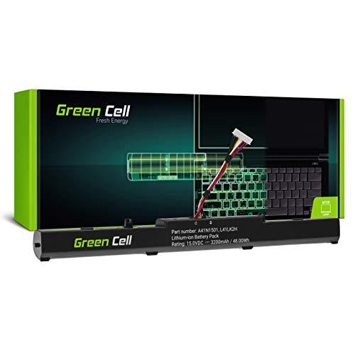 GC® Laptop Akku für Asus VivoBook Pro N552VX-FY026D N552VX-FY026T N552VX-FY053T (3200mAh 15.0V Schwarz)