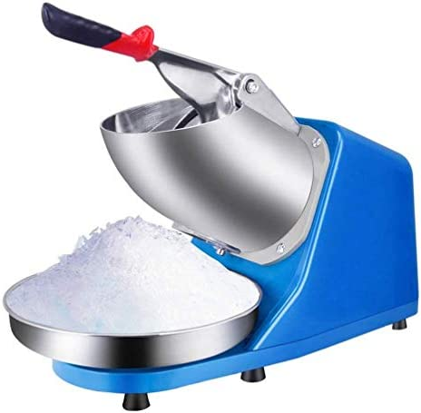 SMLZV Commercial Ice Crusher Industrial Heavy Duty Ice Shaver Machine Dual Stainless Steel Blade product image