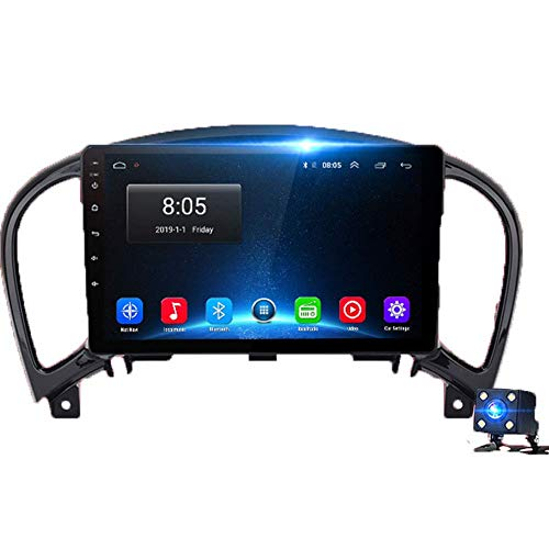 Android 9.0 Pantalla TKLLaacute;ctil Radio de Coche GPS Navegador Sistema Multimedia Ajuste para N-issan Juke 2010-2014 Mapa Gratuito de por Vida Actualizaciones CKLLaacute;Mara Trasera