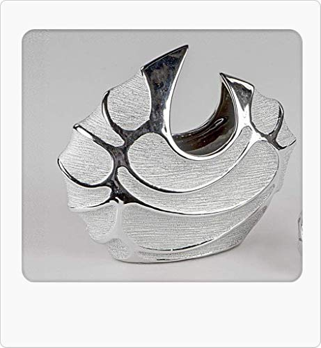 Bollweg Formano Vaso Moderno per Fiori, 27 x 23 cm, Serie Style – Argento Ceramica Matte Superficie