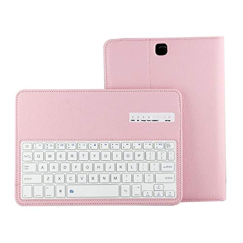 LICHONGGUI For Galaxy Tab A 9.7 / T550 & S2 9.7 / T810 2 in 1 Detachable Bluetooth Keyboard Litchi Texture Leather Case with Holder (Color : Pink)
