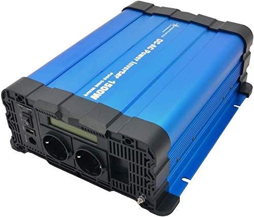 Solartronics Convertidor de Voltaje FS1500D 24V 1500/3000 Vatios Reiner Sinus Azul con Pantalla FS Serie Inversor Inversor