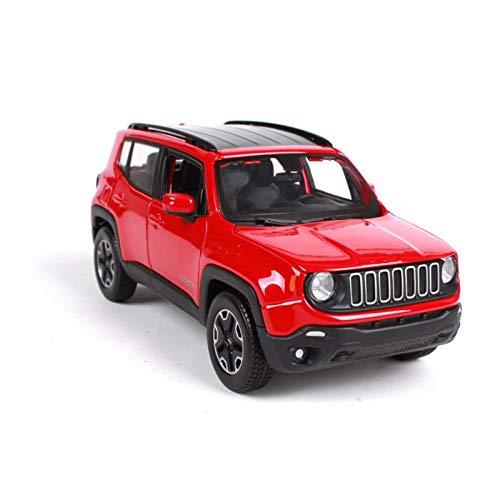 DSWS Aleación presión fundición Coche Modelo Kit 1:24 para Renegade Off-Road Alloy Car Modelo Die-Castscale Simulation Coche Modelo Pasatiempo Colección Adulto Regalo