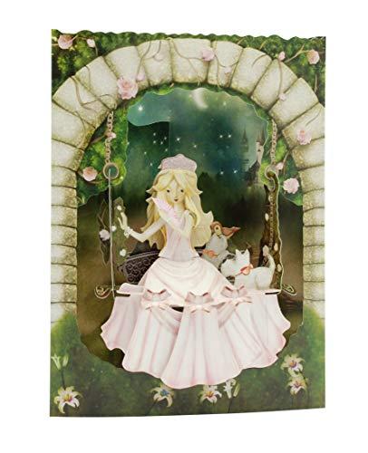 Prinzessin auf Swing - Swing-Karten 3D Santoro
