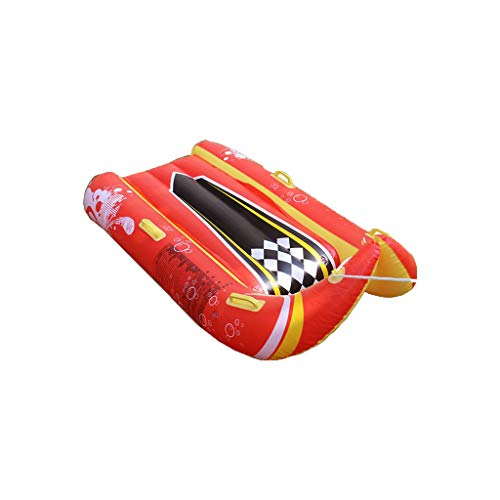 JDJQ Ardorman Tube de Nieve, Trineo Inflable de 45 Pulgadas con Asas para Patinaje de esquí Invierno Diversión al Aire Libre, Snow Sledge para niños Adulto Red