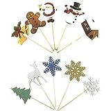 Gsyamh Navidad Cupcake Topper Set Decoración De Pasteles Insert Card Suministros De Toppers De...