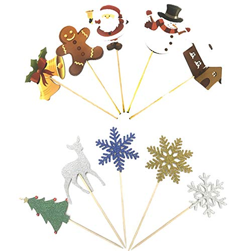 Gsyamh Christmas Cake Topper DIY Scheda Inserto per Decorazione Torta Topper per Torte Decorazione Natalizia Ci Sono Vari Personaggi Animati,Evidenzia l'Atmosfera Natalizia Aggiungi Atmosfera Festosa