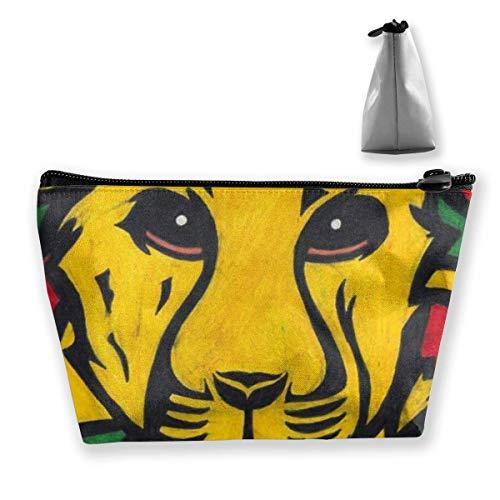 De leeuw van Judah Rasta Jamaica Reggae Logo Potlood Tas Rits Tas Munttas Make-up Tas Opbergzakken Grote Capaciteit Pen Houders voor Kinderen School Kids Jongens Meisjes Vrouwen Gift