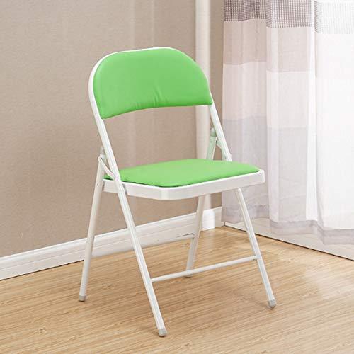 RRight! Gemütlich Klappstuhl mit gepolstertem gepolstertem Sitz und Rückenlehne, Metallrahmen Home Office Partyeinsatz,E