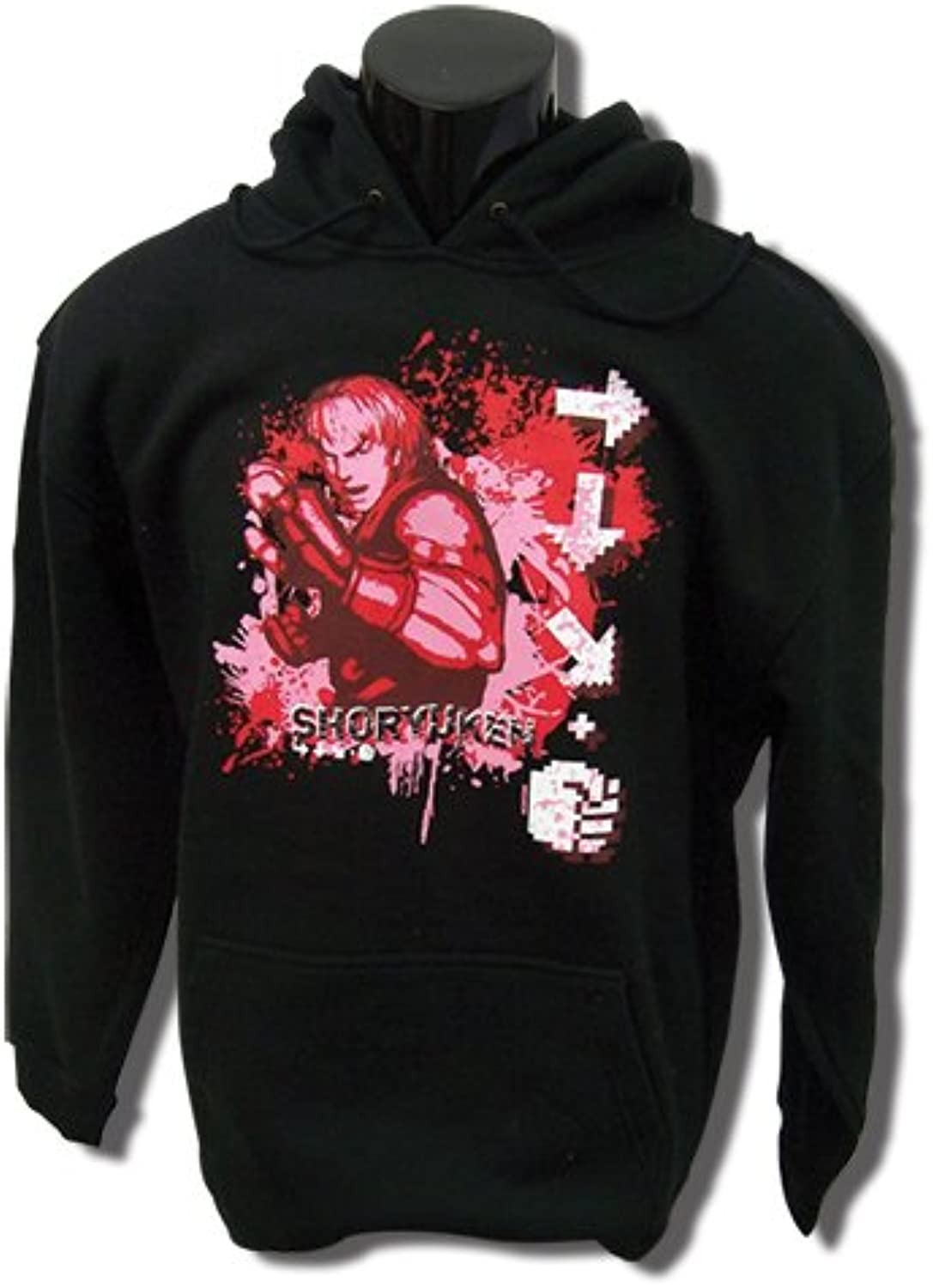 Super Street Fighter IV- Ken Shoryuken Hoodie Sweatshirt   M
