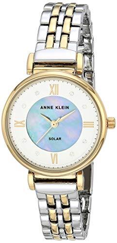 Anne Klein Women's Japanese Quartz Dress Watch with Metal Strap, Silver, 12 (Model: AK/3631MPTT)