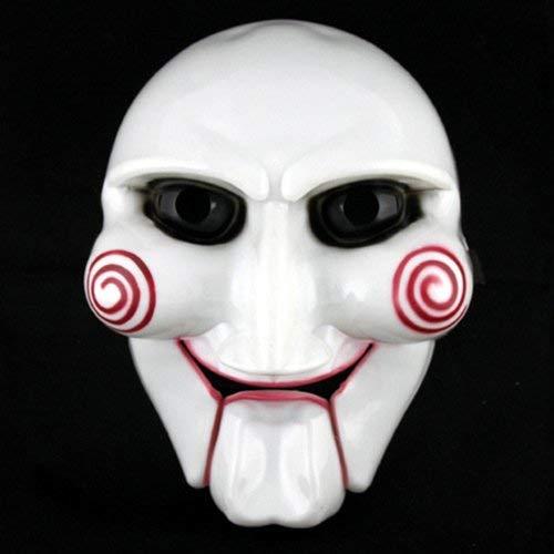 Gwanna Halloween Fiestas Fiestas Decoracion, Adulto Unisex Halloween Billy The Puppet Saw Terror Theme Máscara de PVC