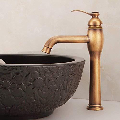 QINGJIA Coppper Completo Grifo Antiguo Faucet/Contador Faucet/Arte Vintage Grifo de Lavabo Grifo frío y frío (Color: -, Tamaño: - -)