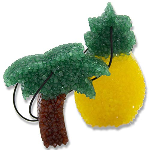 Butt Naked Scented Freshies 2-Pack, Lone Star Candles, Butt Naked, A Delightful Fruity Tropical Blend,2-Color Palm Tree & Pineapple, Freshies, Air Freshener, Car Freshener