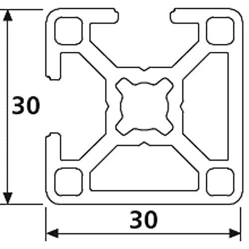 Perfil de aluminio 30 x 30 L tipo I ranura 6 1 longitudes est/ándar 50mm 9,90 EUR//m, m/ín. 2,50 EUR