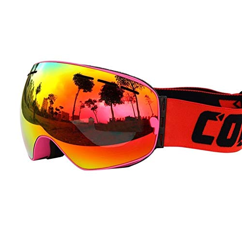 N\A Gafas de esquí COPOZZ SKI Goggles Doble Capas UV400 Anti-Niebla Mascarilla Grande Mascarillas de esquí Esquí Hombres Mujeres Professional Snow Eyewear GOG-201 Lens Gafas de Snowboard de esquí