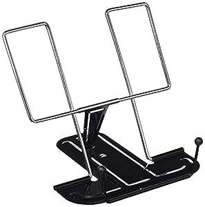 MP - Atril de escritorio metálico, color Negro