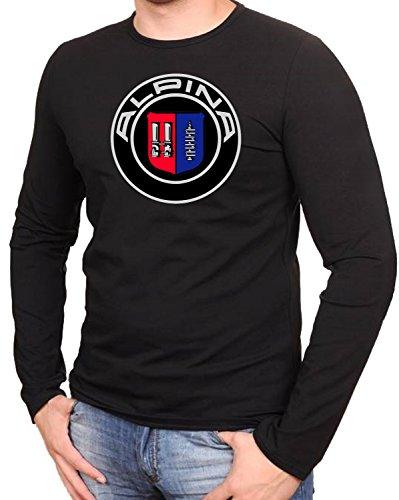 Alpina Logo Schwarze T-Shirt Langarmshirts- 531LA