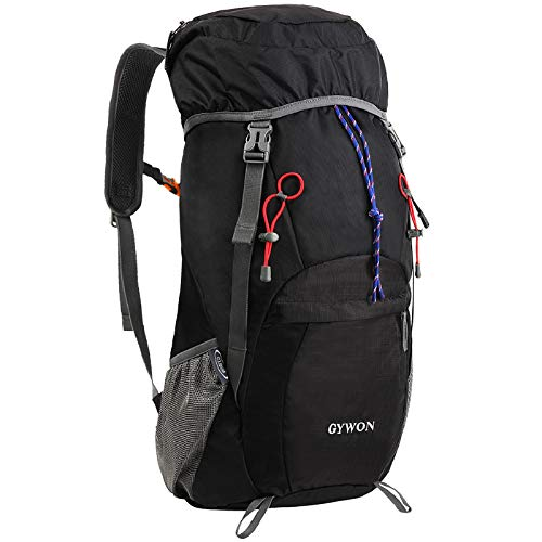 Gywon Lightweight Packable Travel Hiking Backpack Daypack Foldable Carry On Bag Camping Climbing Trekking Rucksack Water Resistant 45L by
