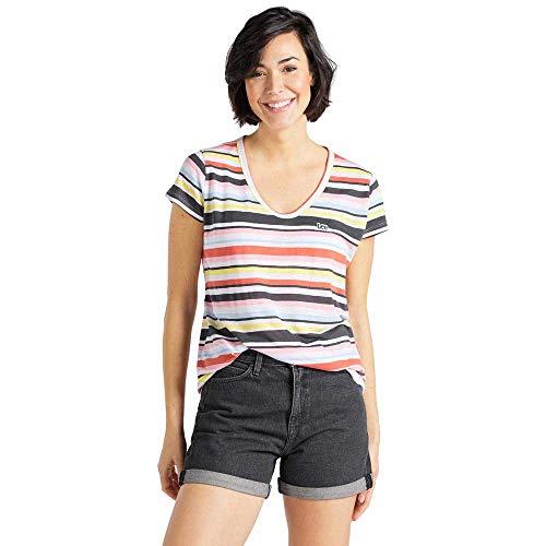 Lee Scoop Neck tee Camiseta, Multicolor (La Pink NL), S para Mujer