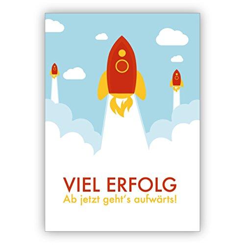 Gefeliciteerd voor het eindexamenen, examen, professionele instap, nieuwe werk met raketten: veel succes vanaf nu gaat het opwaart! 10 Grußkarten