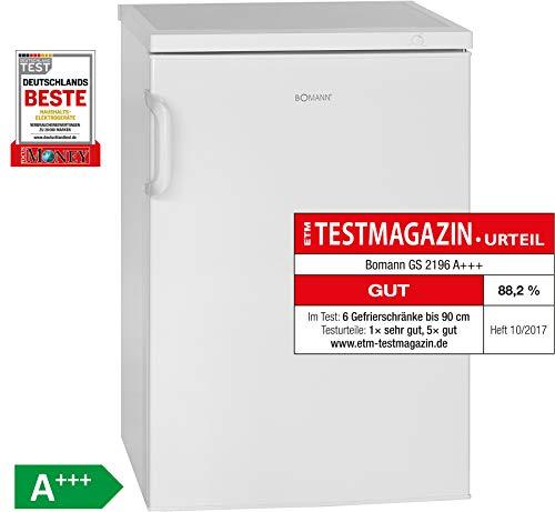 Bomann GS 2196 Gefrierschrank/A+++ / 84.5 cm / 94 kWh/Jahr / 82 L Gefrierteil/Türanschlag...