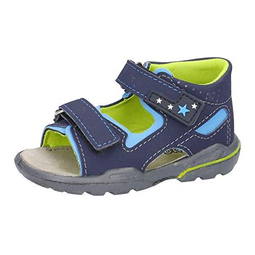 RICOSTA Pepino Manto - Sandalias infantiles (anchas, lavables), color Azul, talla 20 EU Weit