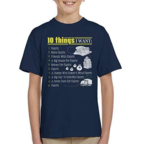 Cloud City 7 10 Things I Want Fabric Kid's T-Shirt