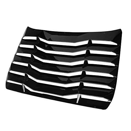 FREEMOTOR802 Compatible With 2016-2021 Honda Civic Sedan Window Louver, IKON Style Gloss Black Rain Guard Sun Shade Cover Windshield Rear Louver ABS