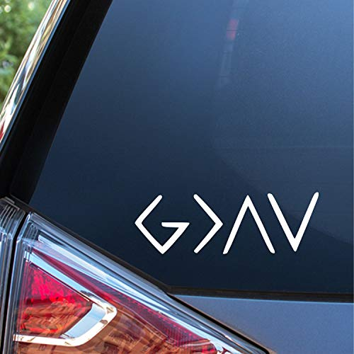 Sunset Graphics & Decals God is Greater Than Highs and Lows Car Decal Vinyl Car Sticker | Cars Trucks Vans Walls Laptop | White | 6 Inches | SGD000076
