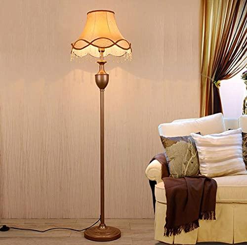 ZXQ Lámpara de pie de interior retro sala de estar dormitorio estudio vertical lámpara de mesa simple y moderna lámpara vertical hogar