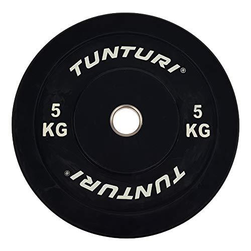 Tunturi Disco de mancuerna 5 kg negro