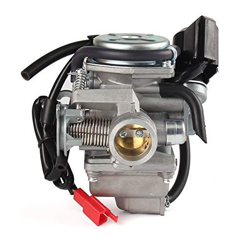 JHONG PD24 carburador Carbo 24mm Carburador GY6 125cc 150cc Motor Carbo Reemplazo para ATV Quad Go Kart Scooter Motocicleta ciclomotor Fuel Supply